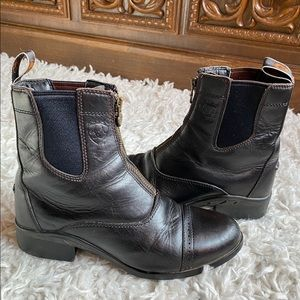 Ariat chocolate brown leather ankle boots
